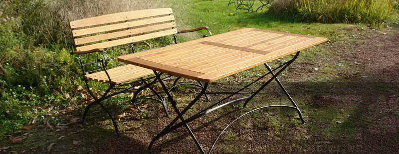 Mobilier de jardin en robinier faux acacia salon de for Table exterieur oxford