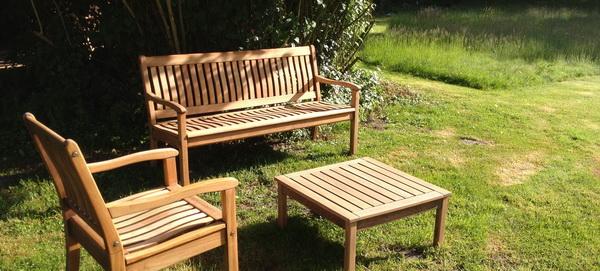 Mobilier de jardin en Robinier faux-acacia, Salon de jardin ...